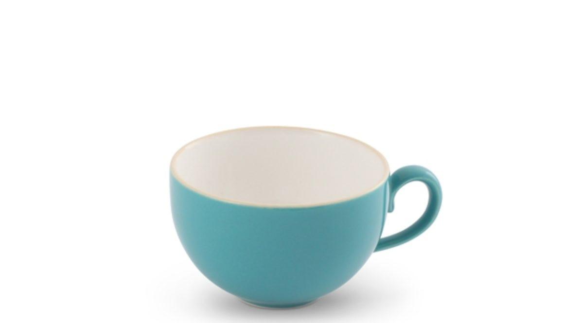 Friesland Kaffee- Obertasse 0,24l Trendmix Aquamarin innen weiß