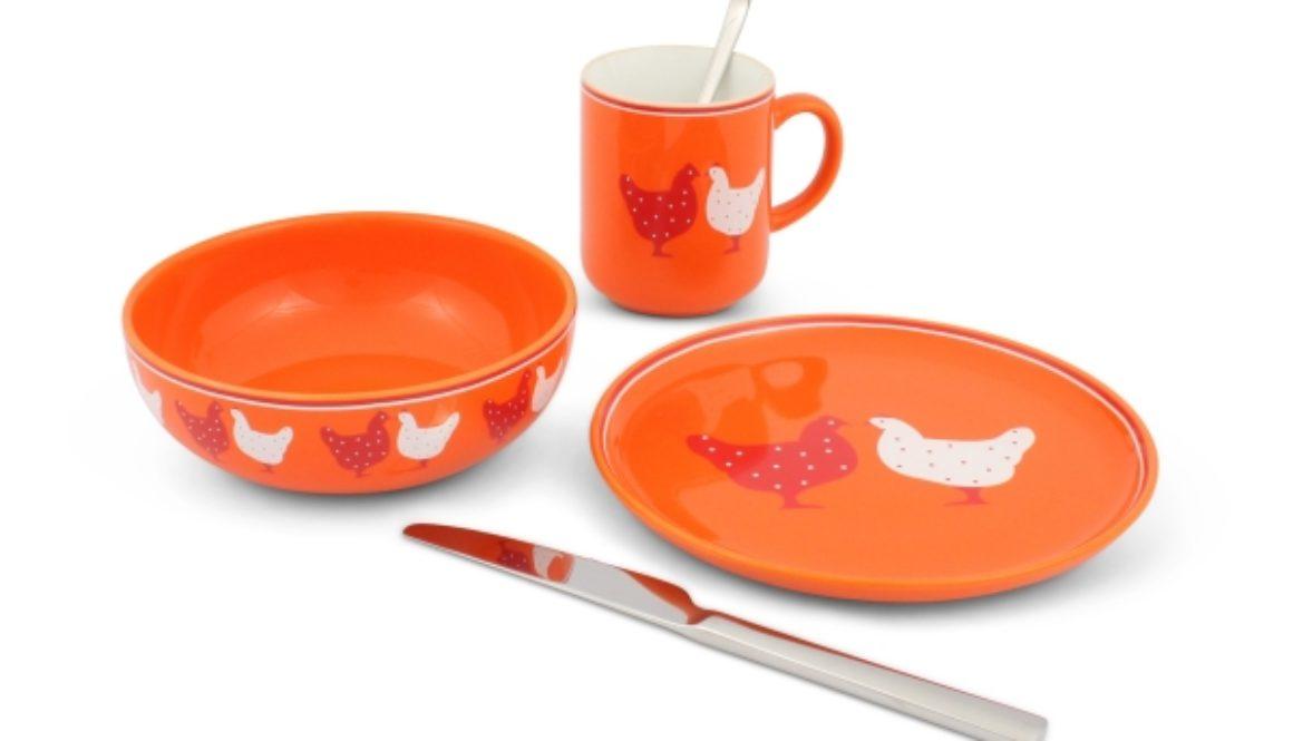 Friesland Frühstücks-Set 3tlg. Happymix Landpartie Hühner